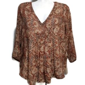 World Market | rust colored bohemian flowy top